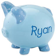 Personalized Etched Children's Piggy Bank