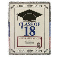 Personalized 2018 Graduation Afghan