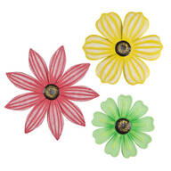 Metal Flower Plaques by Maple Lane Creations™, Set of 3