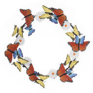 Metal Butterfly and Daisy Wreath by Maple Lane Creations™