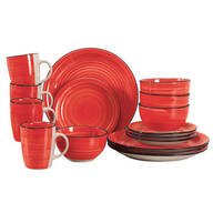 Red Color Vibes 16-pc. Stoneware Dinnerware Set