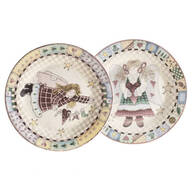 Angel Display Plates, Set of 2