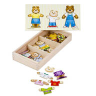 Melissa & Doug® Wooden Bear Family Dress-Up Puzzle
