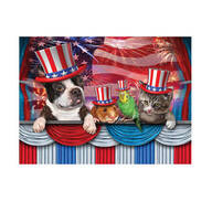 Pets Love America Puzzle, 1,000 pieces