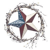 American Barn Star Berry Wreath