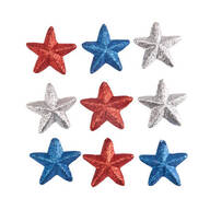 Patriotic Star Ornaments, Set of 9