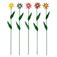Metal Daisy Stakes by Maple Lane Creations™, Set of 5