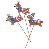 Metal Patriotic Dog Stakes by Maple Lane Creations™, Set of 3
