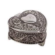 Personalized Antique Heart Keepsake Box