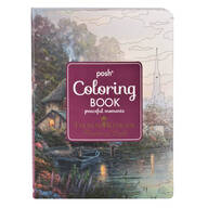 "Thomas Kinkade Coloring Book, ""Peaceful Moments"""
