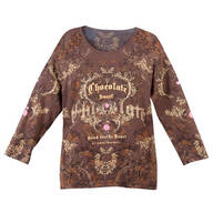 Chocolate 3/4 Sleeve Top