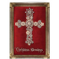 Personalized Jeweled Cross Collage Christmas Cards - Set of 20
