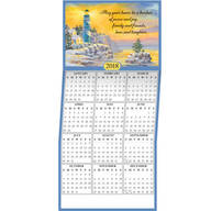 Personalized Lighthouse Calendar Cards - Set of 20