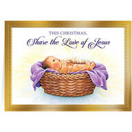 Personalized Share the Love of Jesus Christmas Cards - Set of 20