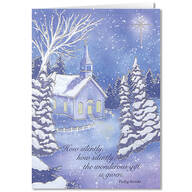 Personalized Twilight Chapel Christmas Cards - Set of 20