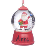 Personalized Santa Waterglobe Ornament