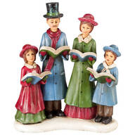 Resin Christmas Caroler Family