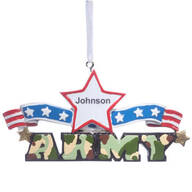 Personalized Resin Military Ornament