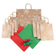 40-Pc. Snowflake Gift Bag Set