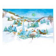 Peaceful Village Non-Personalized Christmas Card set of 20