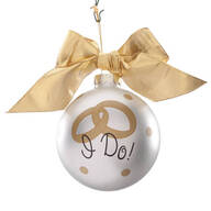 "Personalized ""I Do"" Glass Ball Ornament"