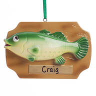Personalized Mounted Fish Ornament