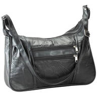 Black Patch Leather Handbag