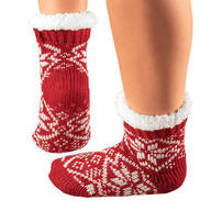 Snowflake Slipper Socks, 1 Pair