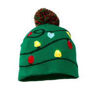 Lighted Knit Christmas Hat