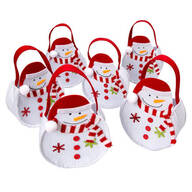 Holiday Snowman Treat Bags, Set of 6