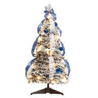 3' Snow Frosted Spruce Prelit Pull Up Tree by Northwoods™