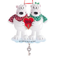 "Personalized ""Key to My Heart"" Ornament"