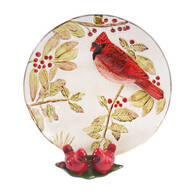 Cardinal Plate and Salt and Pepper Shaker
