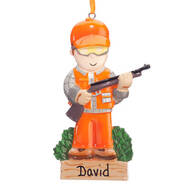 Personalized Hunter Ornament