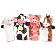 Melissa & Doug® Farm Friends Hand Puppets, Set of 4