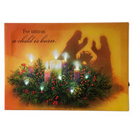 """For Unto Us"" Lighted Canvas by Northwoods™"
