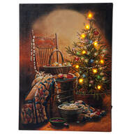 Doug Knutson Christmas Lighted Canvas by Northwoods™