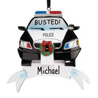 Personalized Police Car Ornament