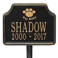 "Personalized ""My Kitty"" Cat Paw Memorial Marker"