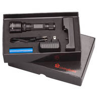 "5"" Tactical Flashlight with Rechargeable Battery by LivingSURE™"