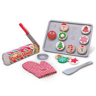 Melissa & Doug® Wooden Slice & Bake Christmas Cookie Play Set