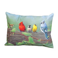 "18"" Birds On A Line Indoor/Outdoor Throw Pillow"