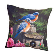"18"" Birdhouse Blues Indoor/Outdoor Throw Pillow"