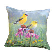 "18"" Yellow Finch Field Indoor/Outdoor Throw Pillow"
