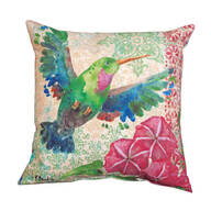 "18"" Zealous Hummingbird Indoor/Outdoor Throw Pillow"