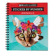 """Brain Games™ """"Animals"""" Sticker By Number Book"""