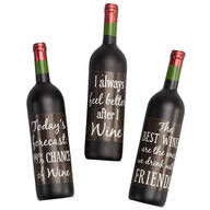 Wine Bottle Magnets, Set of 3