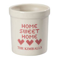 Personalized Home Sweet Home Etched Crock 1 Quart