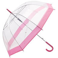 Clear Umbrella with Pink Trim