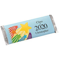 Personalized Candy Bar Wrappers Graduation Stars, Set of 24